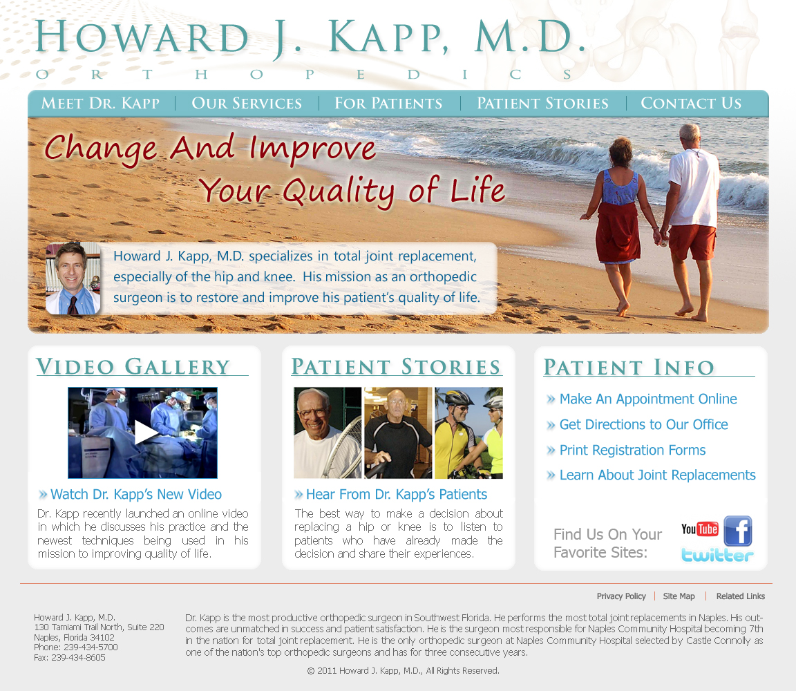 Howard J Kapp, MD Website