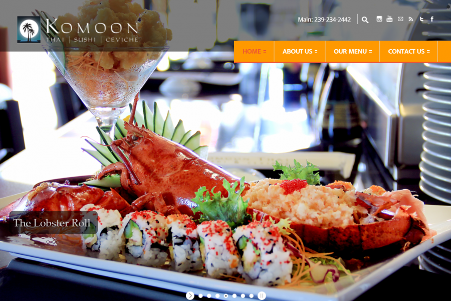 Komoon Thai Sushi Ceviche Website