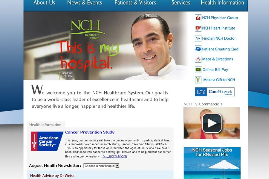 NCH  Healthcare System Website